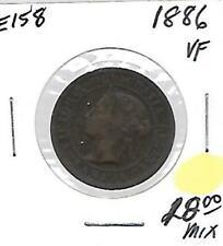 E158 CANADA 1c - 1 CENT COIN 1886 VERY FINE          - CROSS BORDER FRIENDLY