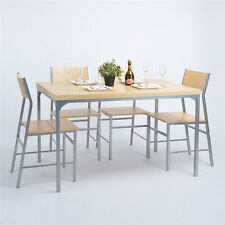 5PCS Dining Table and 4 Chairs Home Furniture Solid Wooden Table & Chair Sets