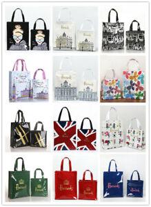 Harrods Women  PVC Waterproof London Shopping Storage Shoulder Bag Handbags
