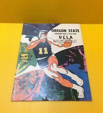 1971 OREGON STATE BEAVERS Vs UCLA BRUINS Official The Hoop Basketball PROGRAM
