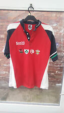 BRITISH LIONS NEW ZEALAND 2005 KOOGA RED, BLUE, WHITE & GREEN RUGBY SHIRT L VGC
