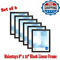 "Photo Frame 8 x 10"" Set Of 6 Format Lot Wall Art Home Decor Black Picture Frames"
