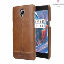 100% Original Pierre Cardin Genuine Leather Back Cover Case for Oneplus 3 / 3T