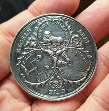 RAR! Schlesien-Breslau Stadt Silber-Medaille um 1700 von Kittel Drei schön Dinge