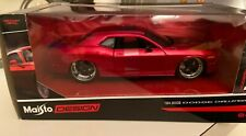 2008 DODGE CHALLENGER METALLIC RED MODERN MUSCLE 1/24 DIECAST MAISTO SEALED