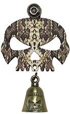 Snake Skin Skull Bell Hanger With Bell Bolt & Ring Fits All Motorcycles Harley
