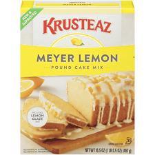 Krusteaz Meyer Lemon POUND CAKE Mix 16.5 Oz, Pack of 2