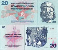 Czechoslovakia 1970,  20 Korun,  Banknote UNC