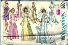 Simplicity Sewing Pattern Wedding Dress or Bridesmaid Dress #8091 Size 8 1960's