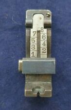 Luger Artillery Rear Sight with elevator spring