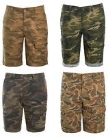 Mens Camo Cargo Shorts Camouflage Combat Army Knee Length Summer Pockets Desert
