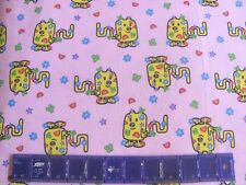Retro Wubbzy Nickelodeon Stars Butterflies Rainbows on Cotton Fabric By the Yard