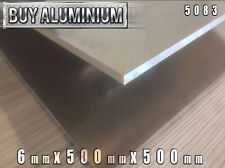 6mm Aluminium Plate / Sheet 500mm x 500mm - 5083