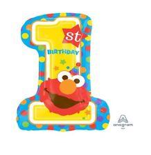 Party Supplies Boy Girls Birthday Elmo Sesame Street 1st One ShapeFoil Balloon