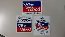 Adesivo Sticker BLUE BLOOD Jeans set  3 pezzi  Vintage
