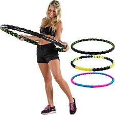 MOVIT Hula Hoop Reifen, Massagenoppen + Magnete Hoopdance Hooping Fitnessreifen