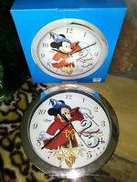 MICKEY MOUSE SORCERER'S APPRENTICE DISNEY CLOCK FOR WDW25 ANNIVERSARY, NEW, MIB