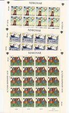 FAROE ISLANDS-3 unlisted sheetlets from 1979