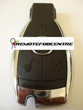Replacement 3 button case for Mercedes C E S M R V CLK CLS SLK chrome remote key