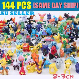 144PCS AU! Pokemon Pikachu Monster Collectible Action Figures Doll Set Kids Toys