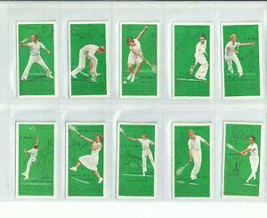 CAT £45.00  JOHN PLAYER 1936 SET 50....TENNIS  ( VG / EXC )....cigarette cards
