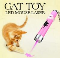 Interactive led Training Funny Cat Play Toy Laser Pointer Pen Mouse Animation F