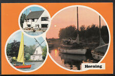 Norfolk Postcard - Horning - View of Yachts and The Windmill  A7305