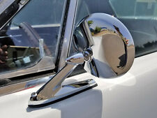 CHROME ROUND METAL EXTERIOR DOOR MIRROR LH RH MUSTANG FALCON THUNDERBIRD COUGAR