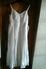 white linen effect dress and bolero set