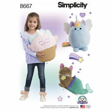 Simplicity SEWING PATTERN 8667 Stuffed Kitty Toys