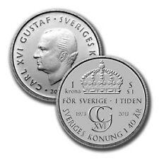 SWEDEN 1 KRONA BU 2013 FROM COIN ROLL 1 PCS COMMEMORATIVE