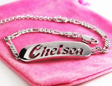 Chelsea Bracelet 18k White Gold Plated Name Jewellery Fashion Gifts Silver tone