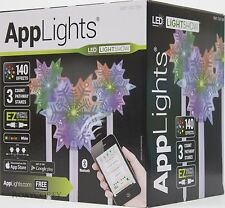 Gemmy AppLights LED Lightshow 3 Snowflake Pathway Stake 20.28 inch NIB