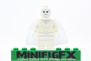 WHITE VISION Custom Minifig Marvel Avengers Infinity WandaVision on LEGO Bricks