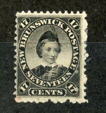 NEW BRUNSWICK 1860 - 63 17c black mint hinged. SG 19. Cat £42