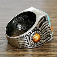 Wholesale Handmade Fashion Silver Turquoise Ring Women Men Jewelry