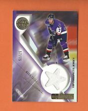 2001-02 UD PROSPECTS GOLD MARK POPOVIC GAME-USED JERSEY #d 57/75 MAPLE LEAFS