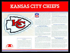 KANSAS CITY CHIEFS ~ NFL TEAM EMBLEM PATCH COLLECTION STAT CARD Willabee & Ward