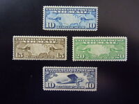 "#C7 C8 C9 C10 Airmail Planes MNH OG VF CV $36.00 #1 ""Includes New Mounts"""