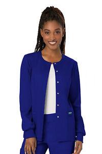 Cherokee WorkWear Revolution Women's Snap Front Warm-Up Scrub Jacket