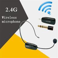 2.4G Wireless Handsfree Headset Microphone Radio FM Megaphone Mic Loudspeaker