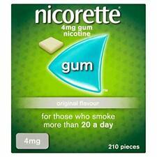 Nicorette Gum Original 4mg 210 Pieces EXPIRES 28/02/2020