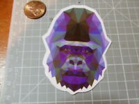 GLOSSY MOSAIC GORILLA Sticker/ Decal Skateboard Laptop Stickers NEW