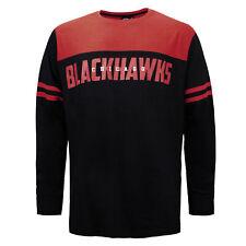 US Sports Chicago Blackhawks Long Sleeve T-Shirt Colourblock Top 1570MRYL5HWNYG