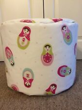 "BEANBAG /POUFFE HAND MADE IN ""RUSSIAN DOLL""  OILCLOTH FABRIC INDOOR/OUTDOOR"