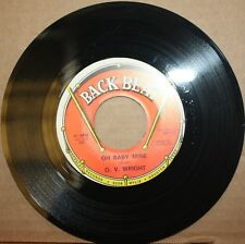 O.V. WRIGHT *Oh Baby Mine* WORKING YOUR GAME Soul Blues 45 on BACK BEAT 591