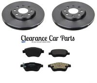 FOR VAUXHALL ADAM 1.2 1.4 ecoFLEX FRONT BRAKE DISCS AND PADS 2012 TO 2017