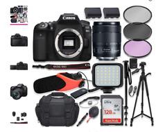 Canon EOS 90D DSLR Camera w/Canon 18-135mm USM Lens Kit + Pro Photo & Video Acce