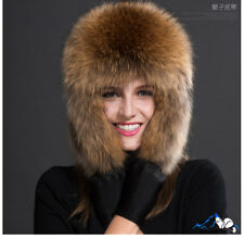 On Sale Fox fur Russian Ushanka Aviator trapper Hat caps earflap Winter Warm