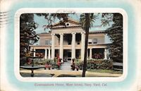 Mare Island Navy Yard California 1916 Postcard Commandant's Home